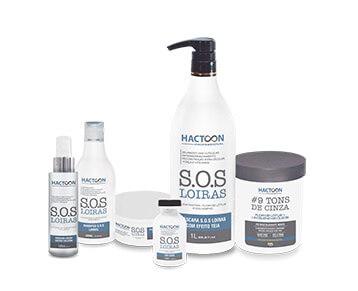 linha S.O.S Loiras – produtos hactoon cosmeticos 2020